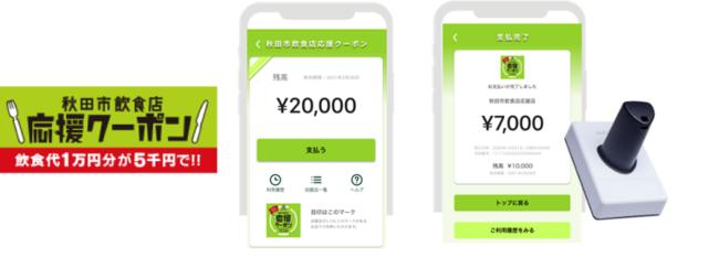 店 使える 飲食 券 市 秋田 プレミアム