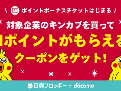 「ポイントボーナスチケット」(NTTドコモ)