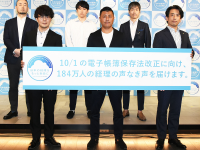 左からROBOT PAYMENT 代表取締役社長 清久健也氏